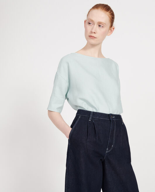 Linen blouse BLUE HAZE