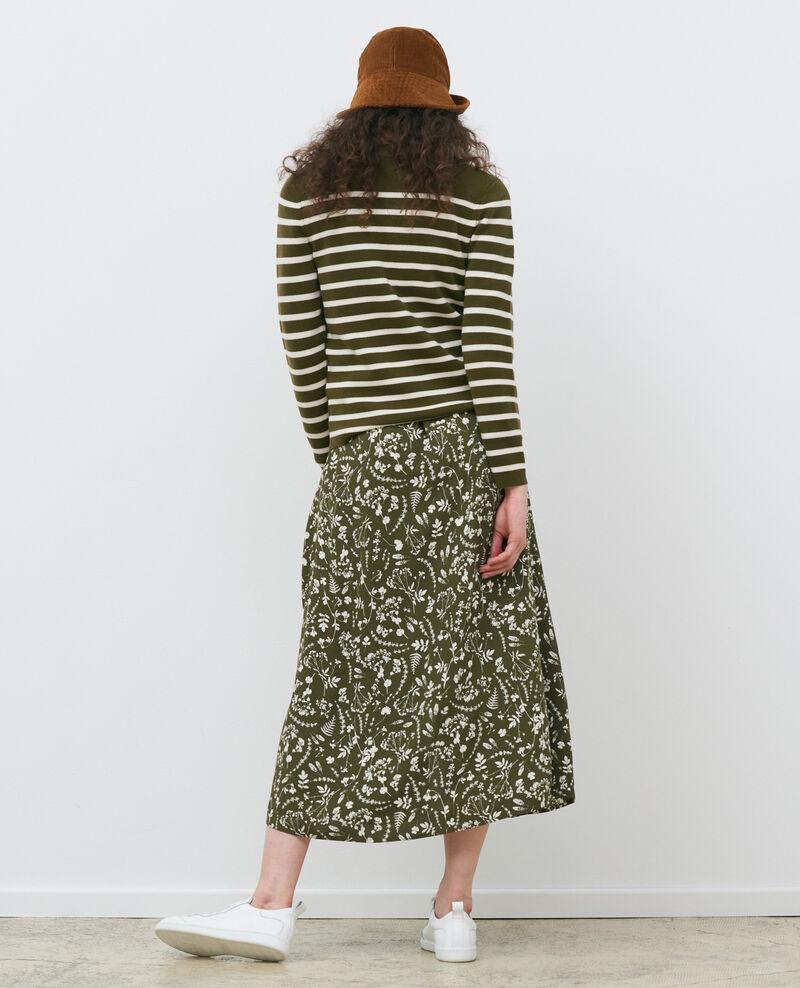 MADDY - Striped wool jumper Stp olive jtst Liselle