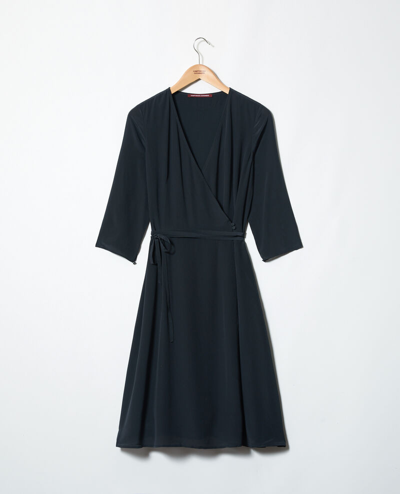 Silk wrap dress Noir Icoeur