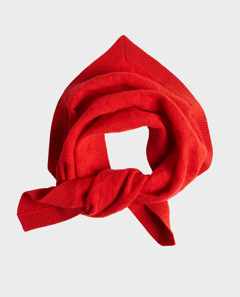 100% Cashmere headscarf Fiery red Lyne