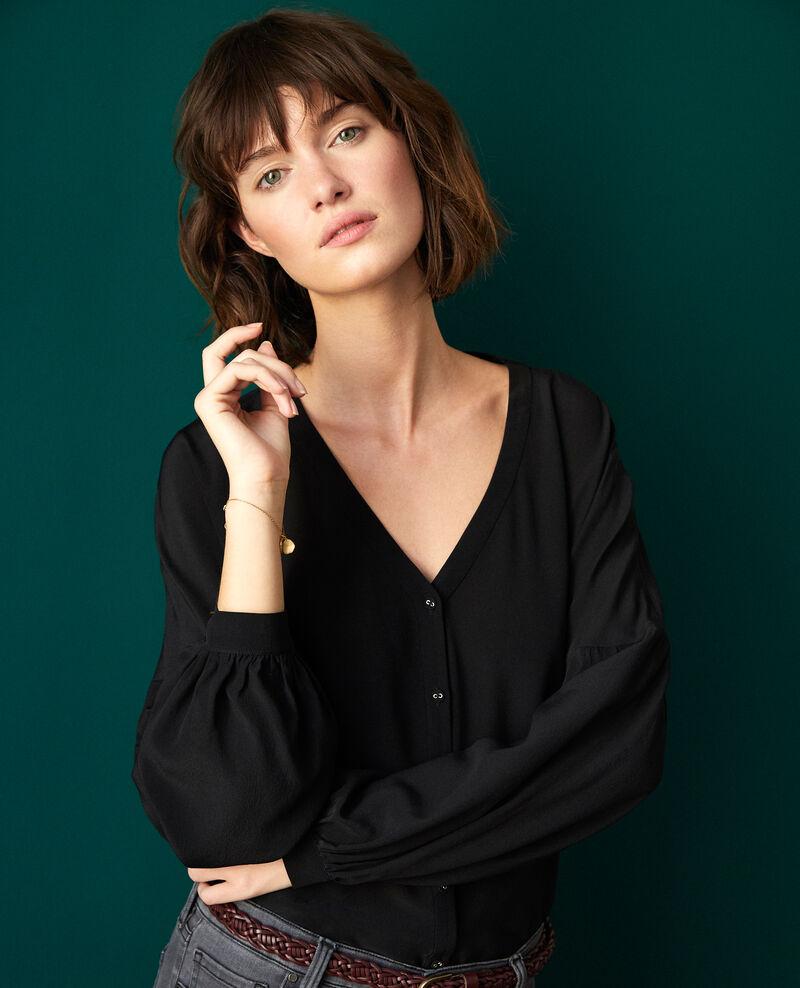 V-neck blouse Noir Gaucelin