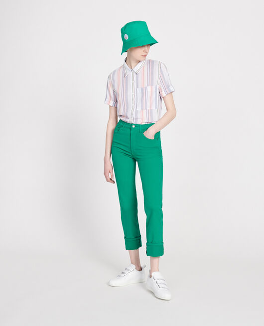 Straight-leg trousers GOLF GREEN