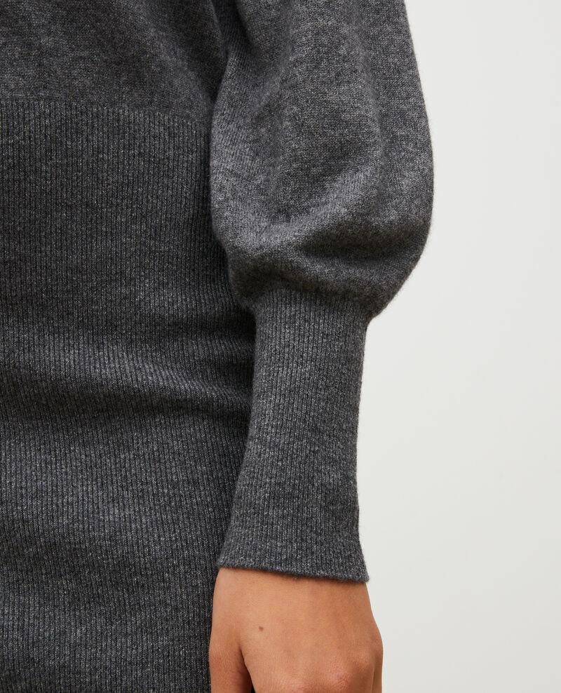 Cashmere jumper dress Medium grey melange Manin