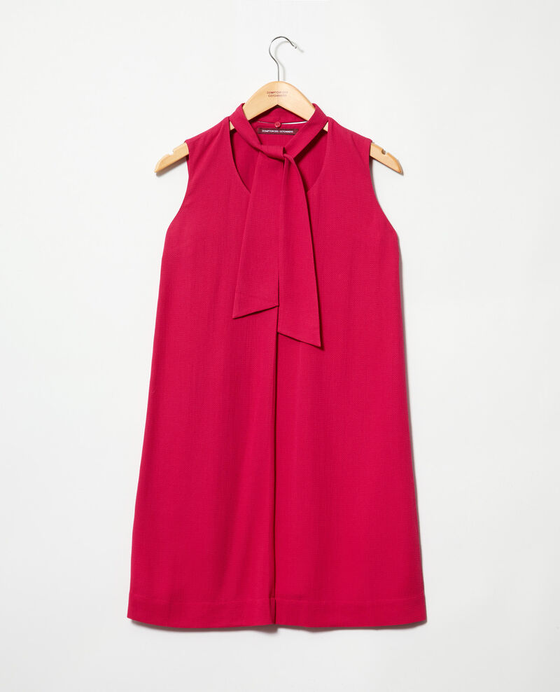 Dress with removable tie Fushia Iolandi