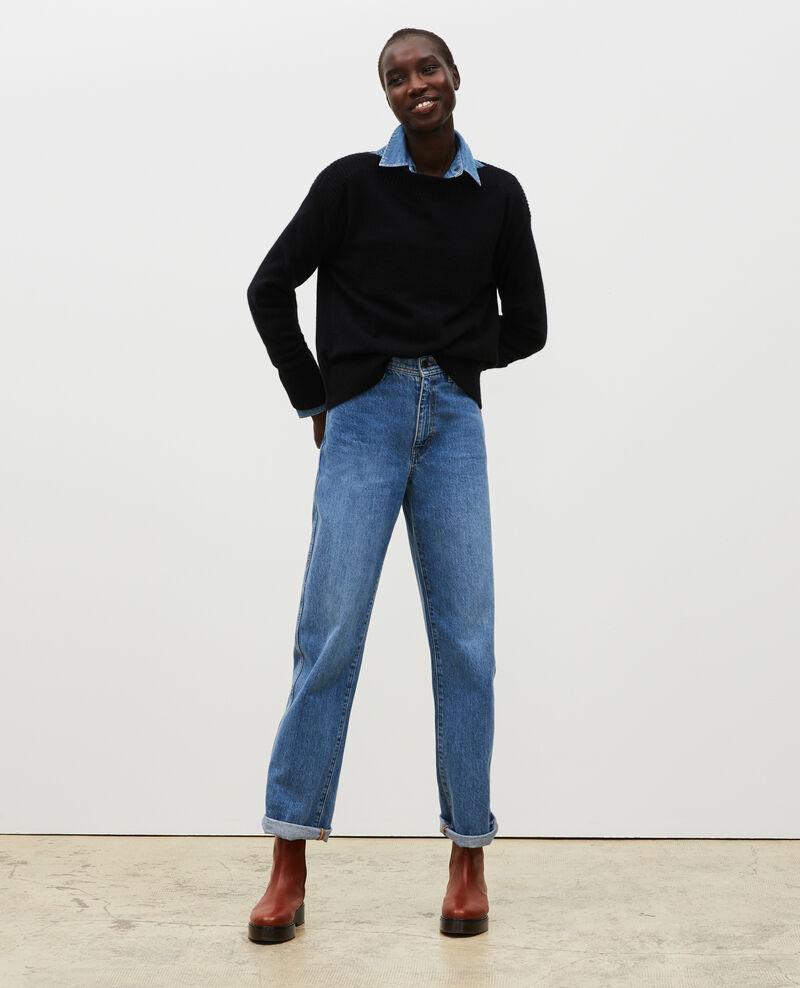 Cashmere boatneck jumper Black beauty Matelot