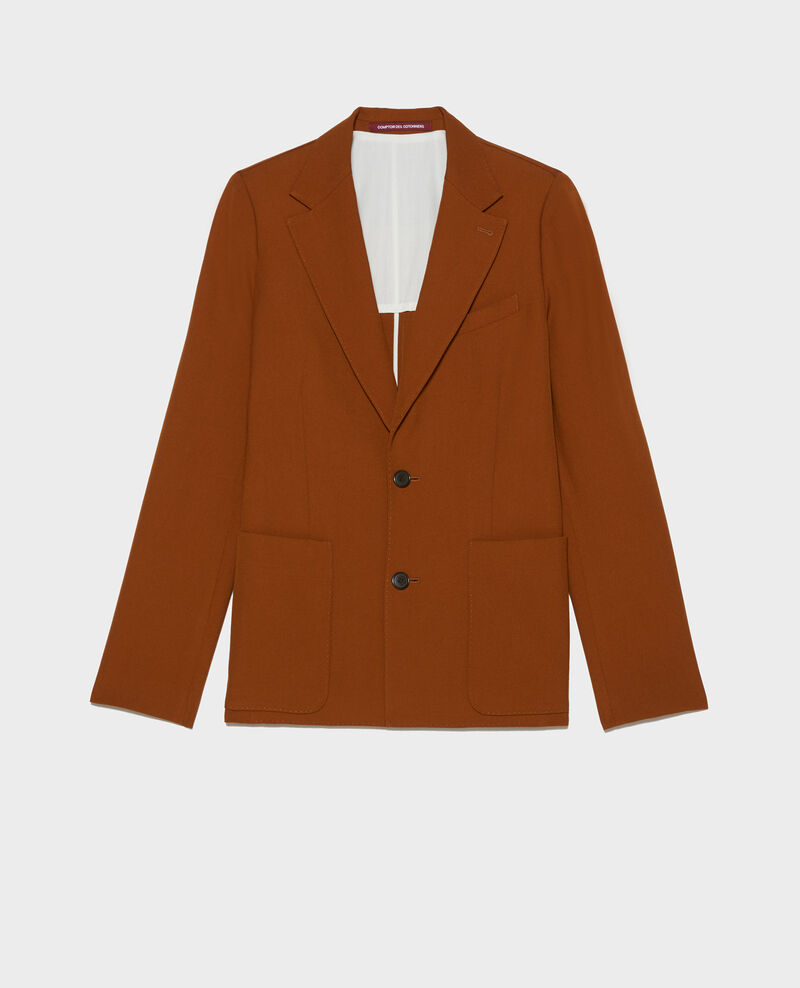 Lightweight smooth wool blazer Monks robe Luscade