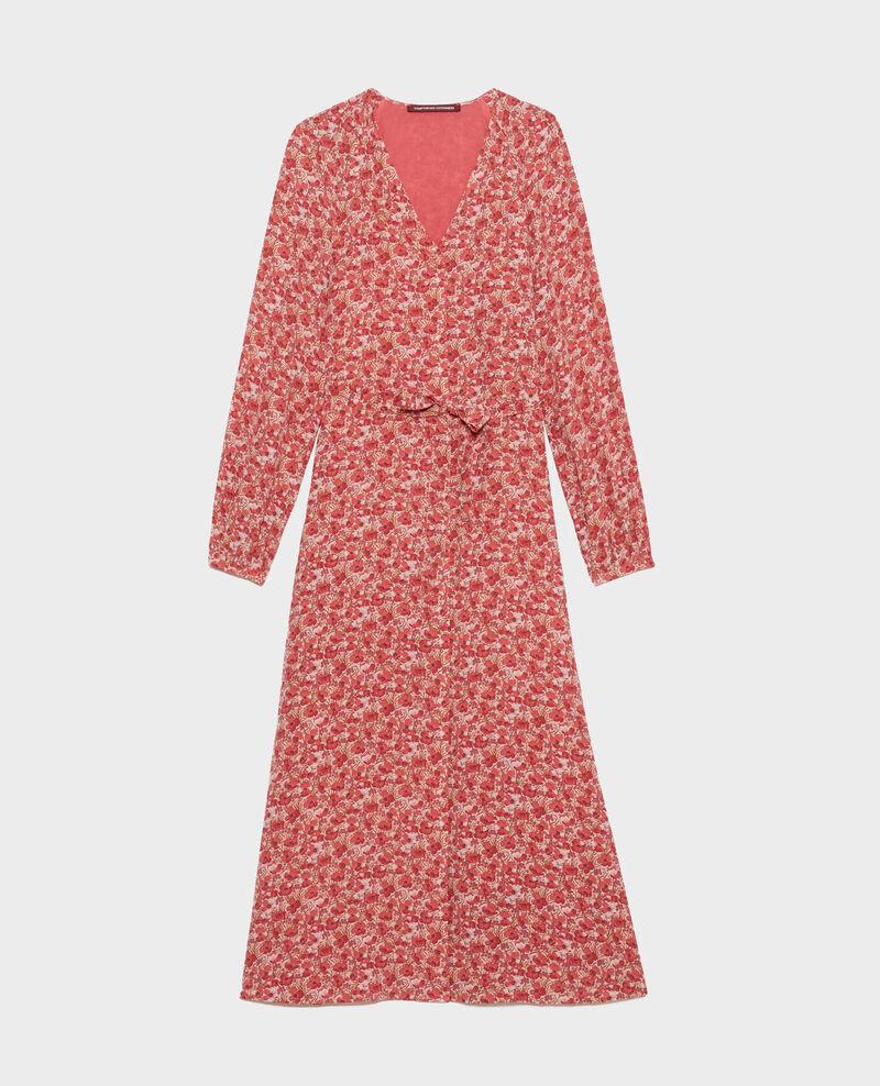 Silk maxi dress Art deco pink Pavisha