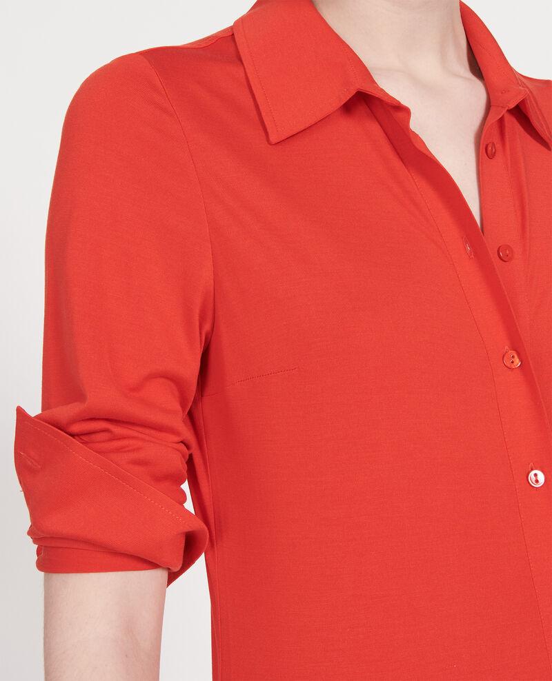 Silk dress Fiery red Lulia