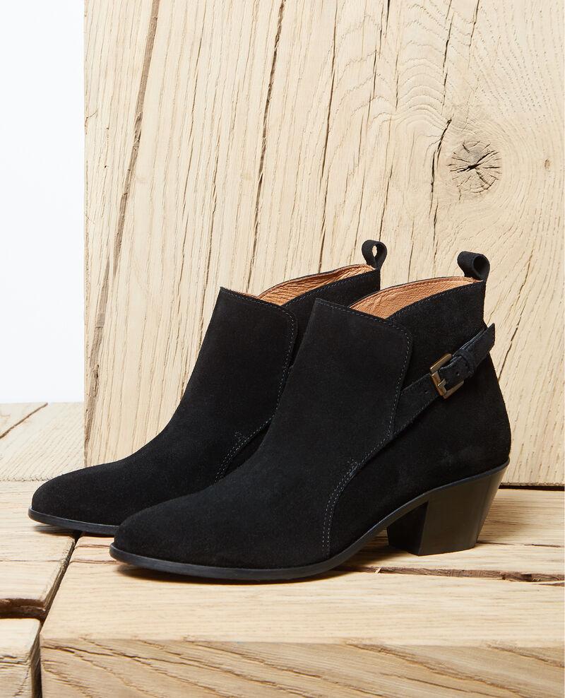 Suede Chelsea boots Noir Issentiel