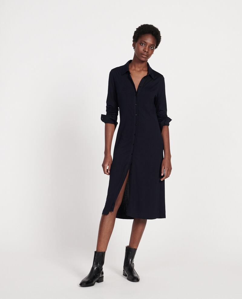 Silk jersey dress Maritime blue Lulia