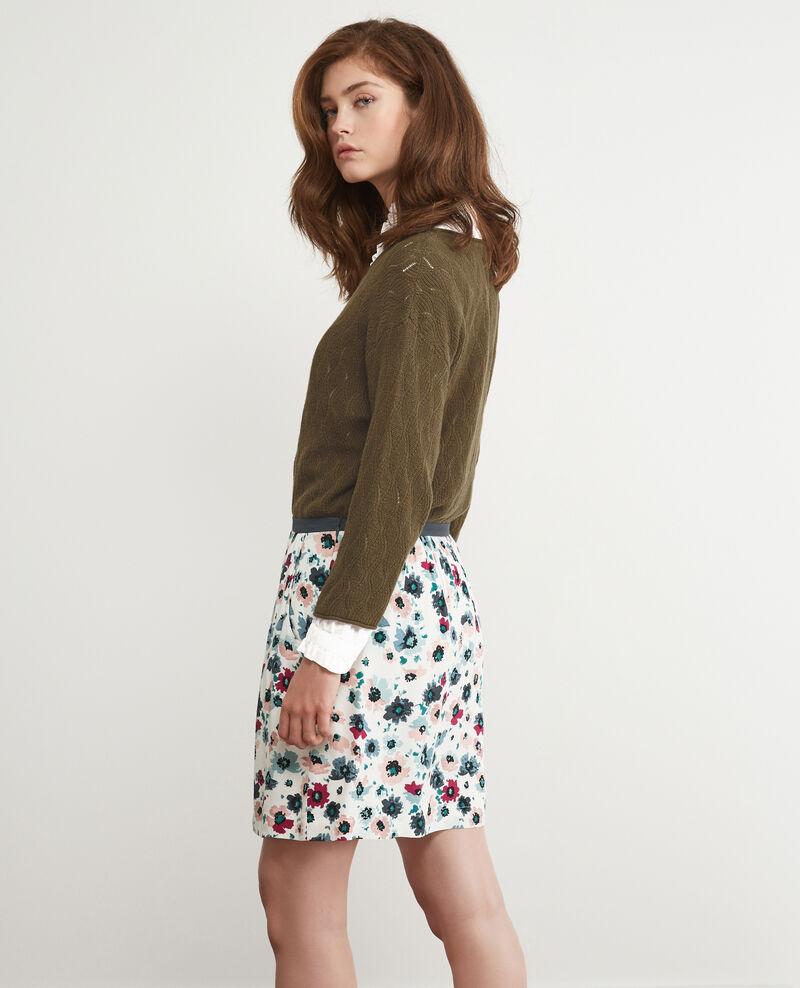 Printed skirt Poppies off white Darthur