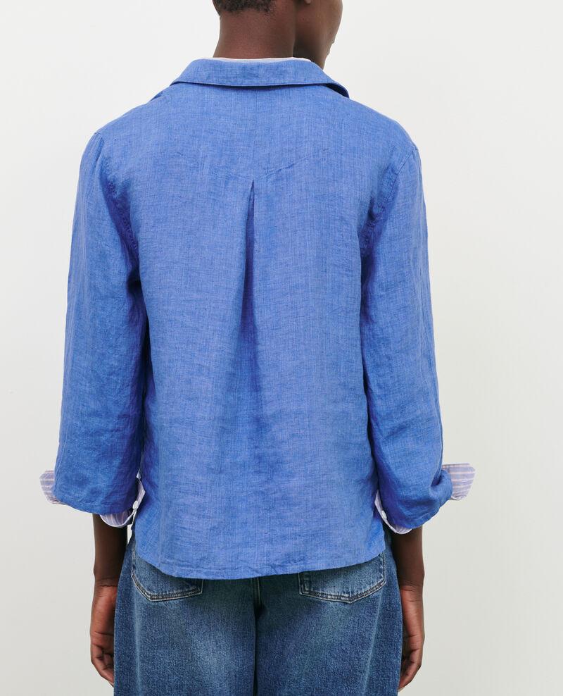 Linen pea jacket Indigo Lortet