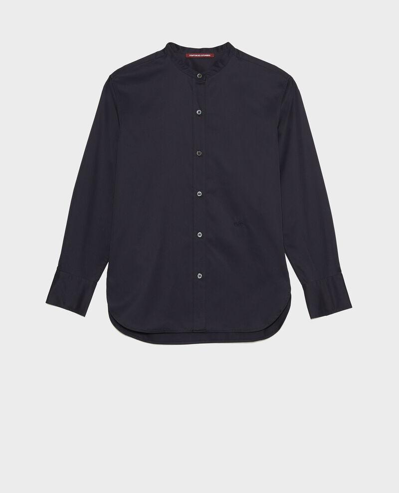 Round neck cotton shirt Night sky Mannion