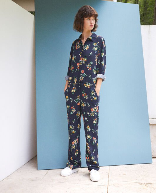 Shirt jumpsuit Blue