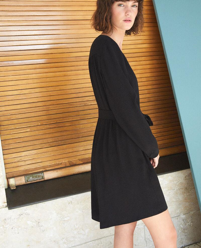 V-neck dress Black Genevieve
