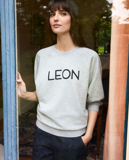 LEON sweatshirt HEATHER GREY