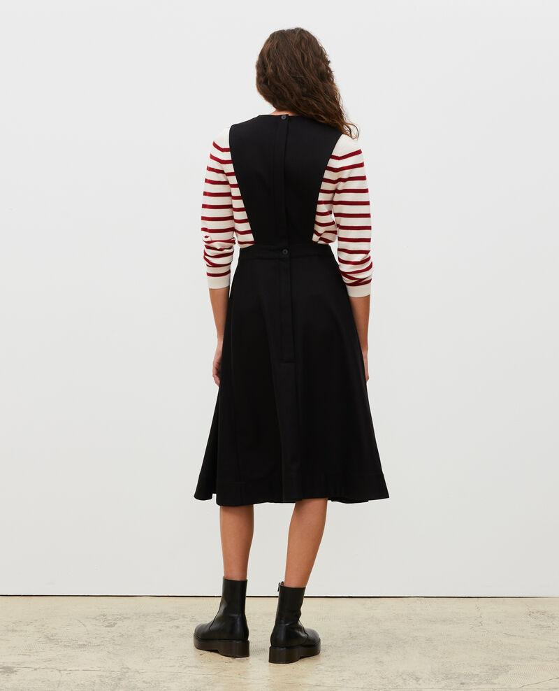 Wool pinafore dress Black beauty Mantilly