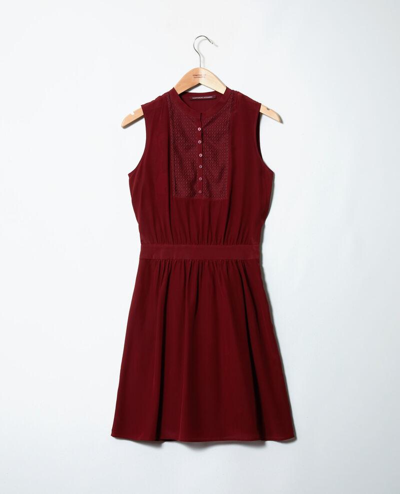 Silk dress with lace shirt front Cabernet Jelegrino