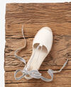 Flat espadrilles Ecru/sailor stripes Ferret