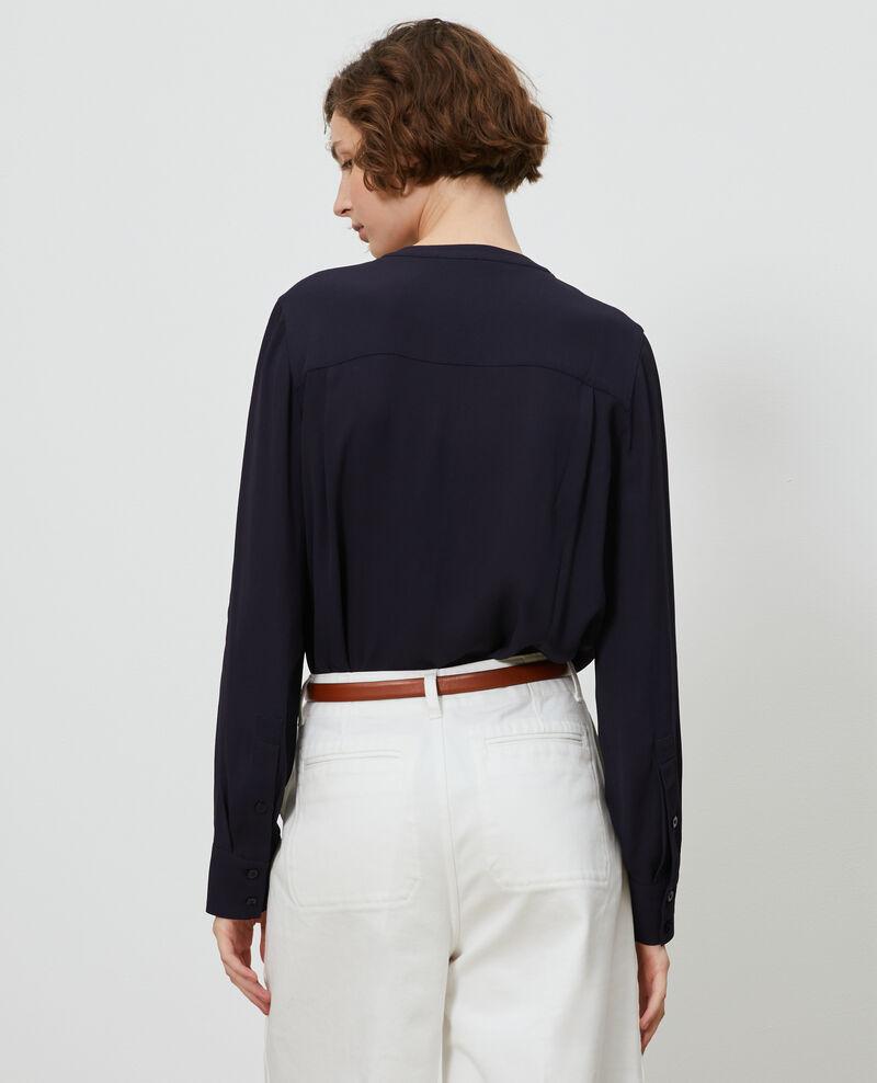Ruffle front blouse Night sky Nemours
