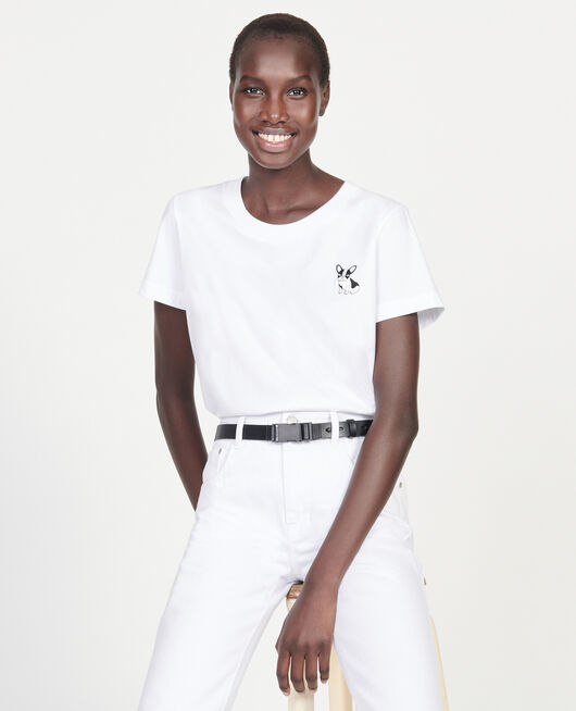 Léon cotton t-shirt OPTICAL WHITE