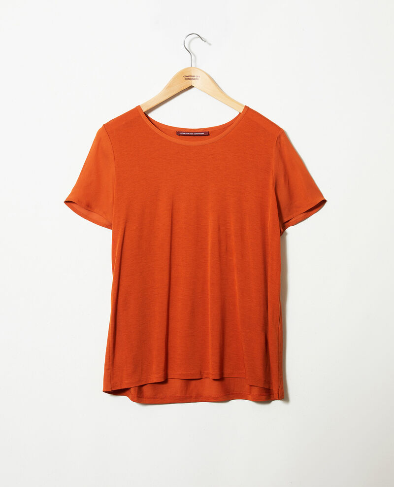 Bimaterial T-shirt Umber Jabelle