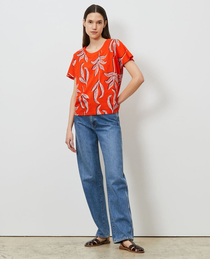 Round neck cotton t-shirt Prt bot spicy Nimeric
