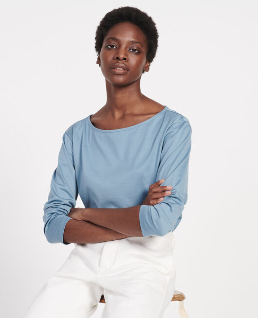 Cotton T-shirt BLUESTONE
