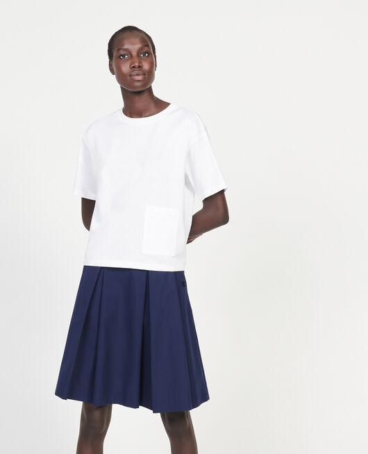 Mercerised cotton Oversize t-shirt OPTICAL WHITE