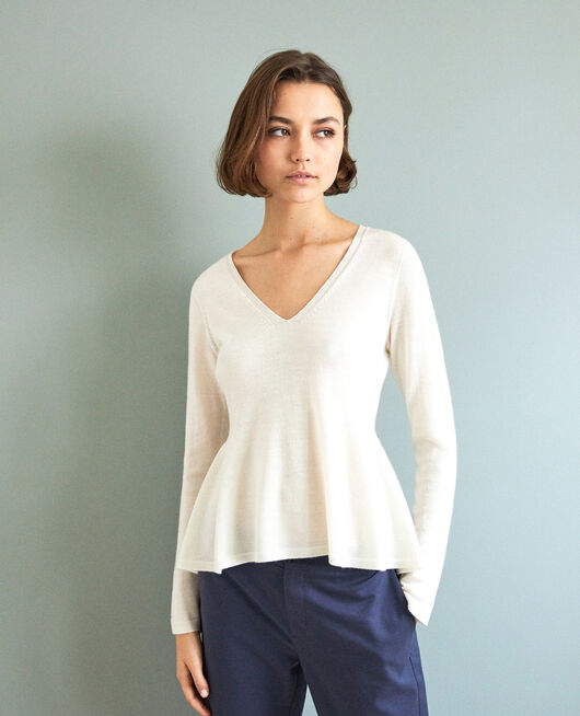 Wool jumper  OFF WHITE