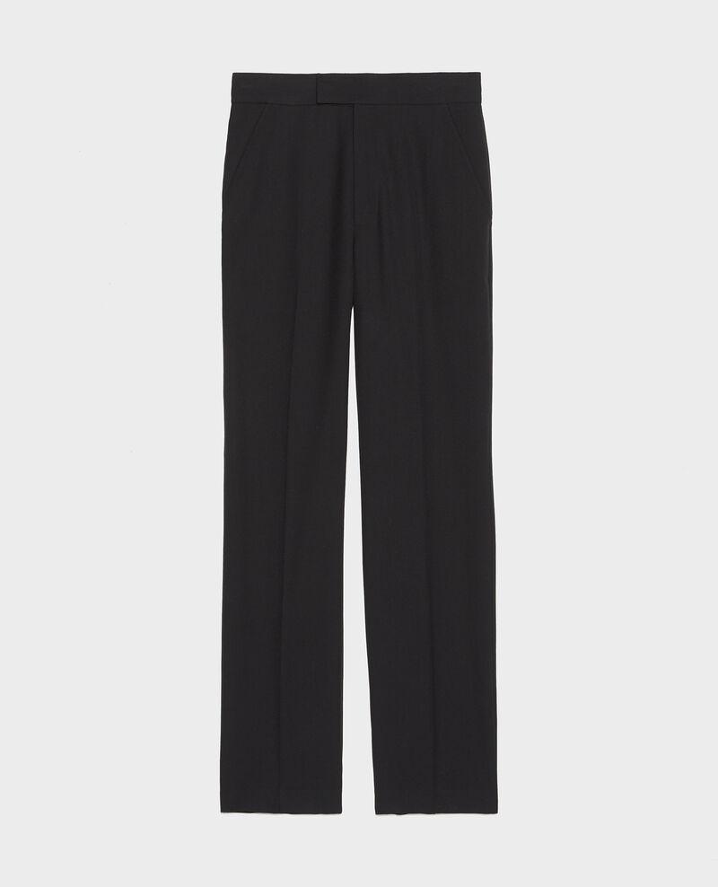 Straight wool boyfriend trousers MARCELLE Black beauty Lisabelle