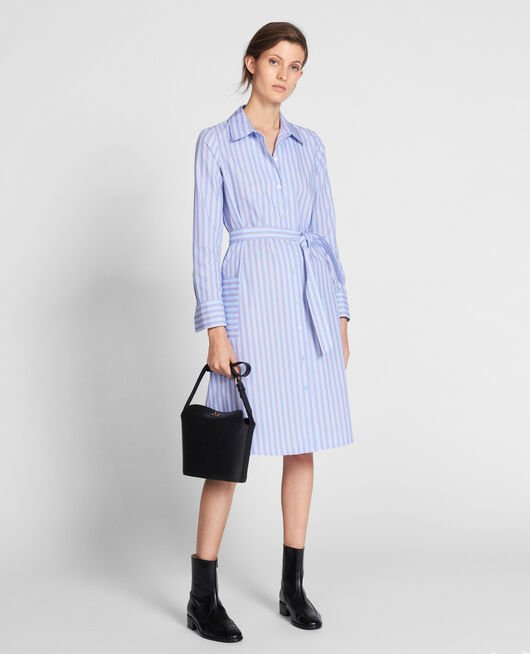 Poplin shirt dress POPELINE STRIPES