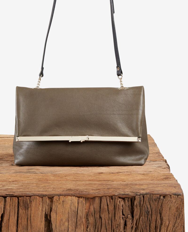 Leather bag Kaki Facetie