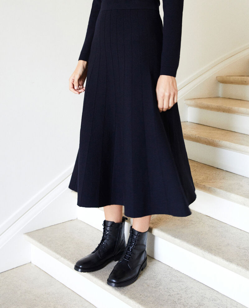 Flared skirt Dark navy Jonsieur
