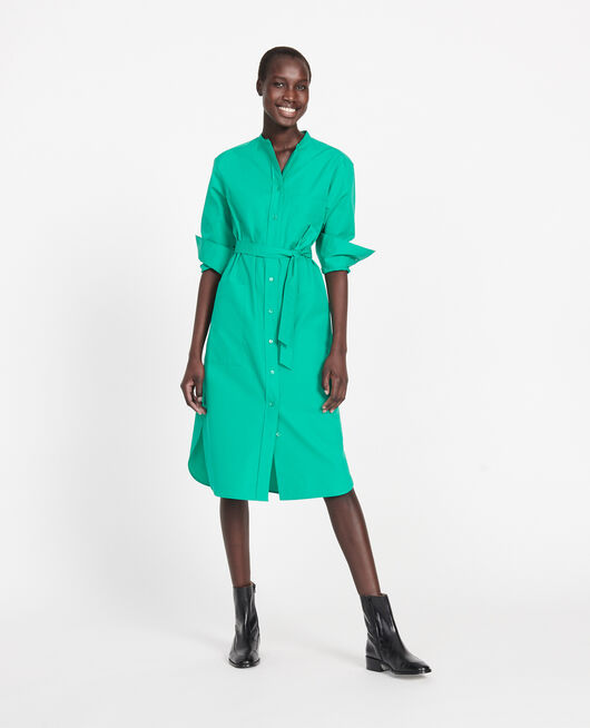 Oversize maxi dress GOLF GREEN