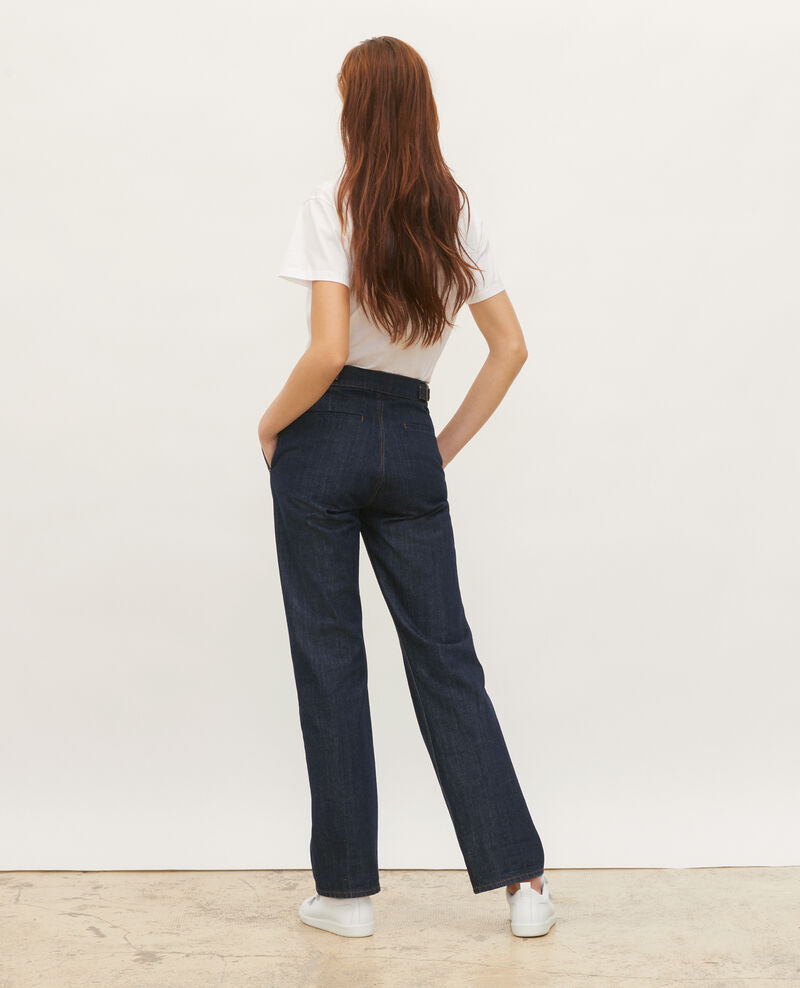 FLARE STRAIGHT - Slim fit dark denim trousers Denim rinse Mibbie