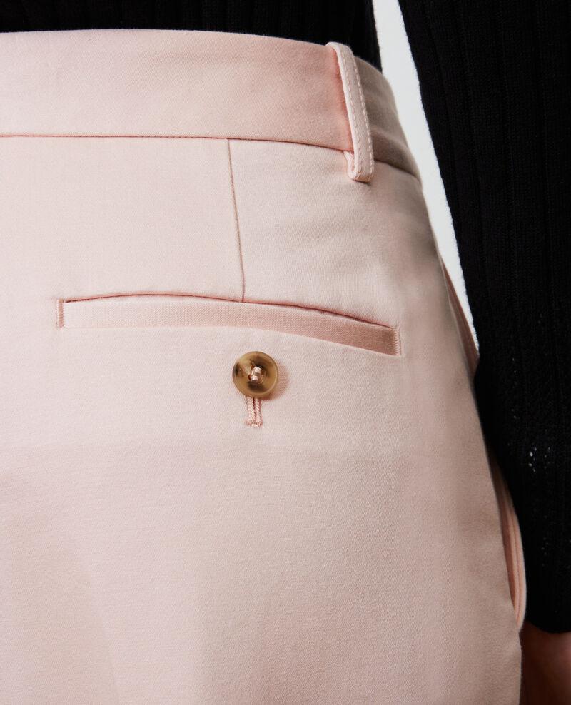 MARGUERITE tapered cotton 7/8 chinos Seashell pink Nezel