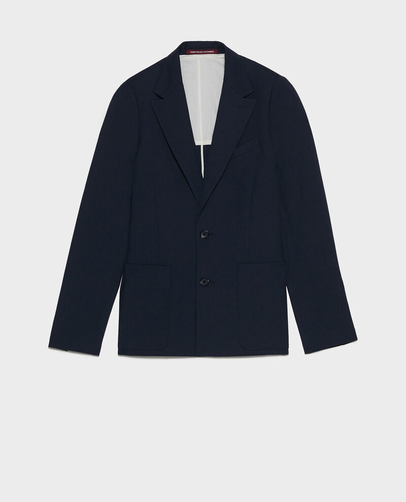 Lightweight smooth wool blazer Dark navy Luscade