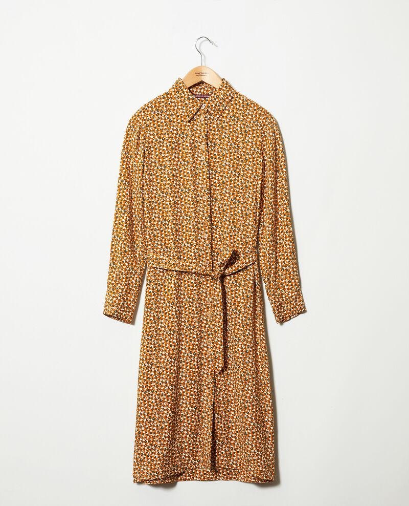 Printed dress Leopard thai curry Joleil