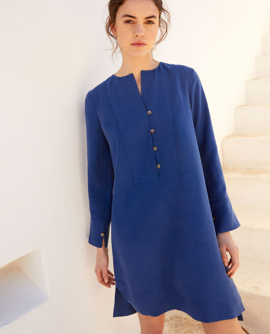 Henley dress IMPERIAL BLUE