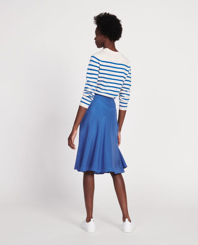 Silk skirt Little pois surf the web Loyat