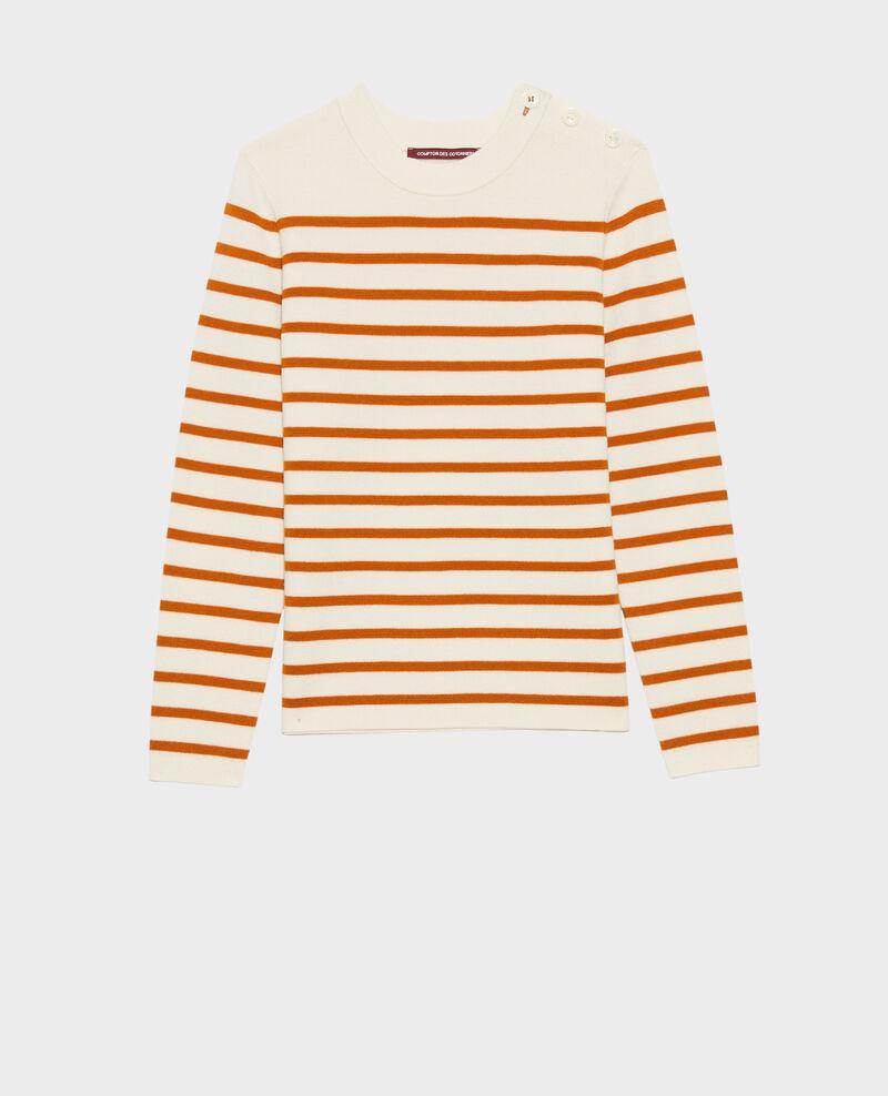 MADDY - Striped wool jumper Stp_grd_pumkn Liselle