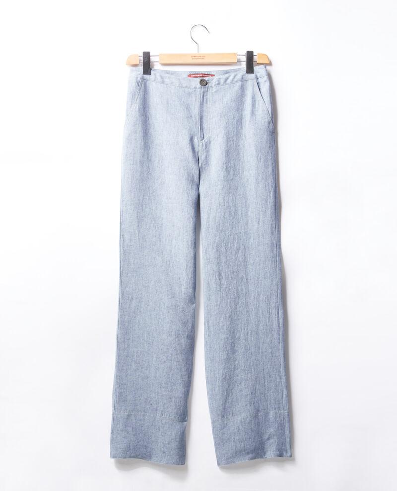 Loose fit linen trousers Azur Facteur