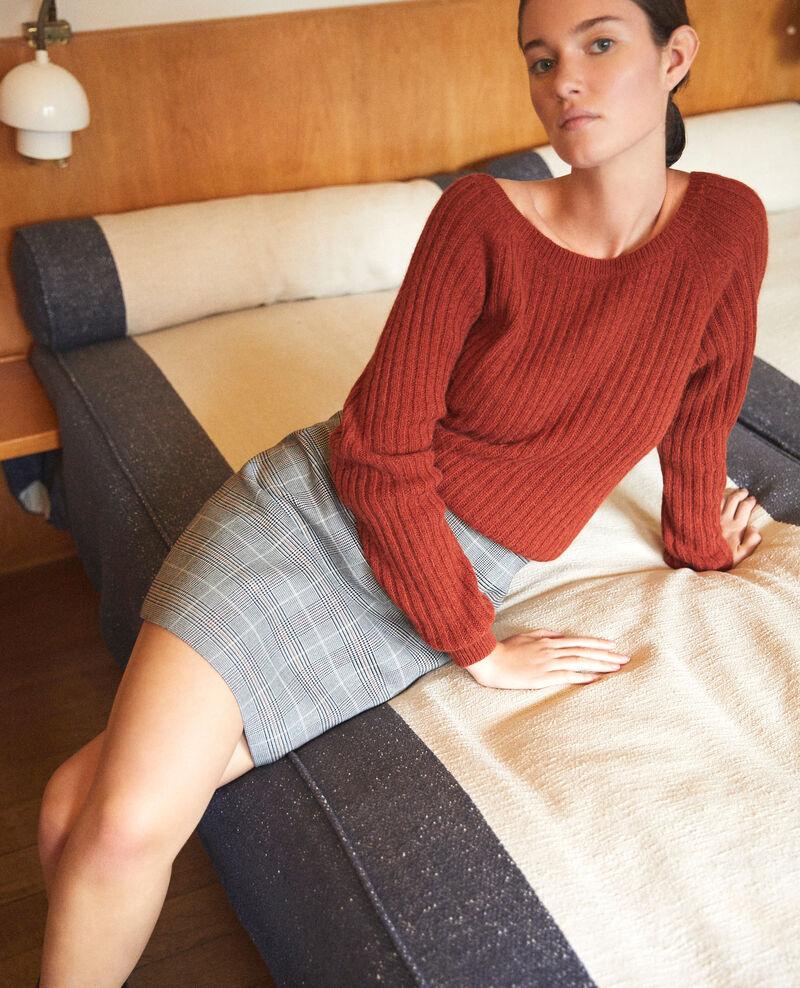 High-waist skirt Black Galois