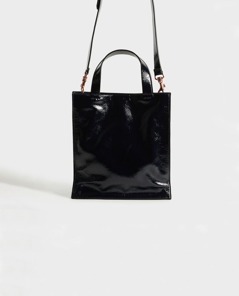 Mini multi-pockets leather tote Dark navy Mudique xs