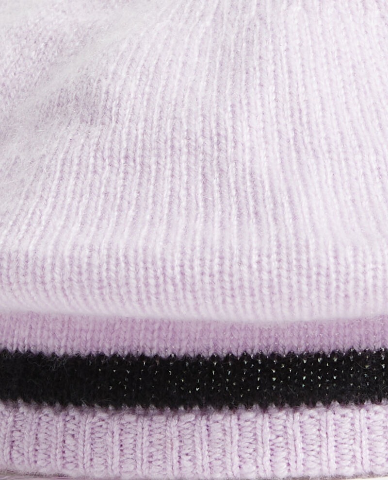 Cashmere beret Stripe lilac blackbeauty Mions
