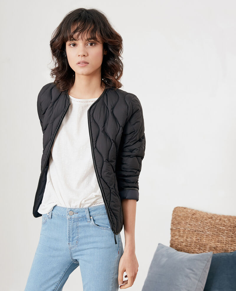 Pocketable down jacket Black/navy Folin