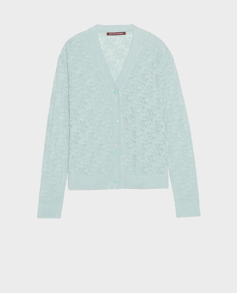Rib knit cardigan Blue haze Lafiora