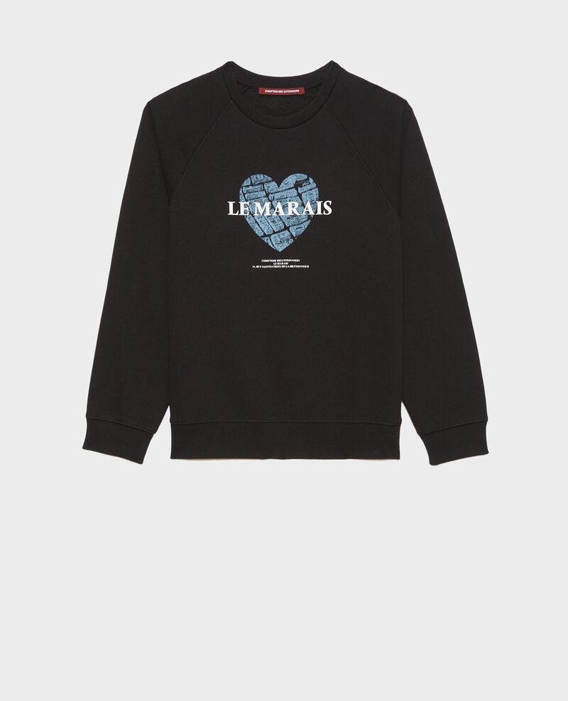 Fleece sweatshirt Black beauty Madeleina