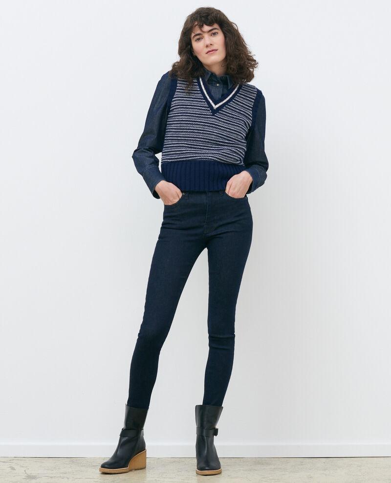 DANI - SKINNY - High-waisted jeans Dark indigo Rauky